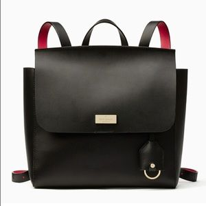Kate Spade Black/Pink Leather Backpack